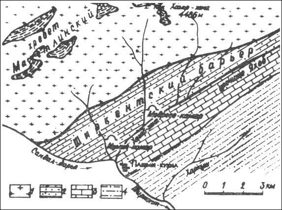 карта верховьев реки