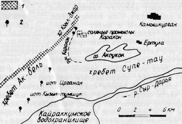 Схема расположения озера