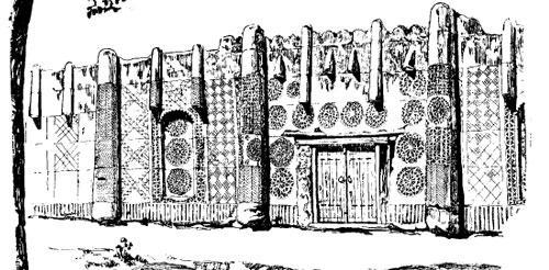 Фасад самаркандской пригородной усадьбы